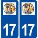 17 Dolus d'oléron logo city sticker, plate sticker