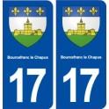 17 Bourcefranc le Chapus blason ville autocollant plaque sticker