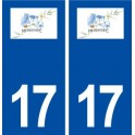 17 Montendre logo city sticker, plate sticker