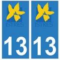 13 Istres ville autocollant plaque