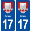 17 Jonzac blason ville autocollant plaque sticker