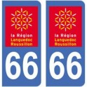 66 Pyrenees-Orientales sticker plate