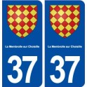 37 The Membrolle on Choisille coat of arms, city sticker, plate sticker