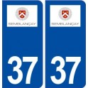 37 Semblançay logo ville autocollant plaque stickers