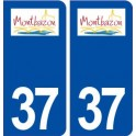 37 Montbazon logo ville autocollant plaque stickers