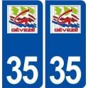 35 Gévezé logo sticker plate stickers city