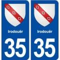 35 Irodouër coat of arms sticker plate stickers city