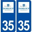 35 Domloup logo autocollant plaque stickers ville