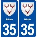 35 Bédée blason autocollant plaque stickers ville