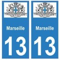 13 city of Marseille sticker plate