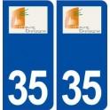 35 Maure de Bretagne logo autocollant plaque stickers ville
