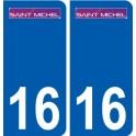 16 Saint Michel logo ville autocollant plaque sticker