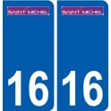 16 Saint-Michel logo city sticker, plate sticker