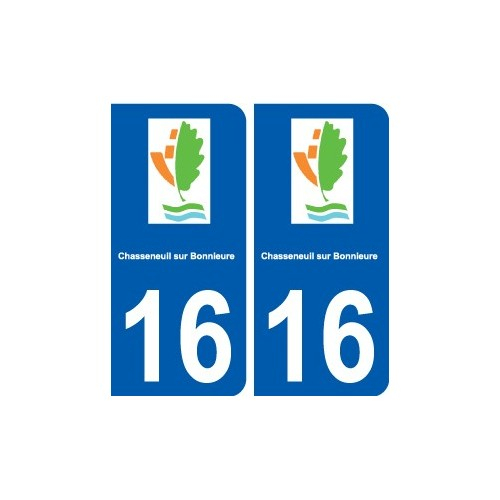 16 chasseneuil sur bonnieure logo ville autocollant plaque for Piscine chasseneuil sur bonnieure