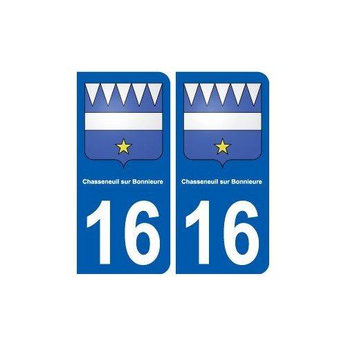 16 la rochefoucauld blason ville autocollant plaque for Piscine chasseneuil sur bonnieure