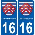 16 La Rochefoucauld blason ville autocollant plaque sticker
