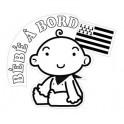 Autocollant sticker Bébé à Bord Bretagne Breizh Breton logo 1