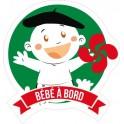 Autocollant Bébé à bord Basque stickers adhésif logo 6
