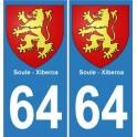 64 Soule Xiberoa autocollant plaque sticker voiture