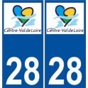 28 Eure et Loir sticker sticker plaque immatriculation Centre Val de Loire new logo