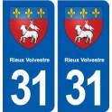 31 Rieux-Volvestre blason ville autocollant plaque stickers