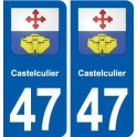 47 Castelculier coat of arms sticker plate stickers city