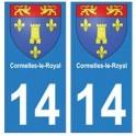14 Cormelles-le-Royal ville autocollant plaque