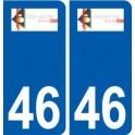 46 Biars-sur-Cère logo autocollant plaque stickers ville