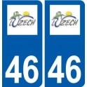46 Luzech logo autocollant plaque stickers ville
