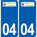 04 Volonne logo city sticker, plate sticker