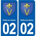 02 Vailly-sur-Aisne coat of arms, city sticker, plate sticker