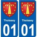01 Thoissey blason ville autocollant plaque sticker