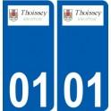 01 Thoissey logo city sticker, plate sticker