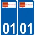 01 Chalamont logo ville autocollant plaque sticker
