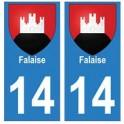 14 Falaise ville autocollant plaque