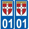 01 Chatillon-la-Palud logo city sticker, plate sticker