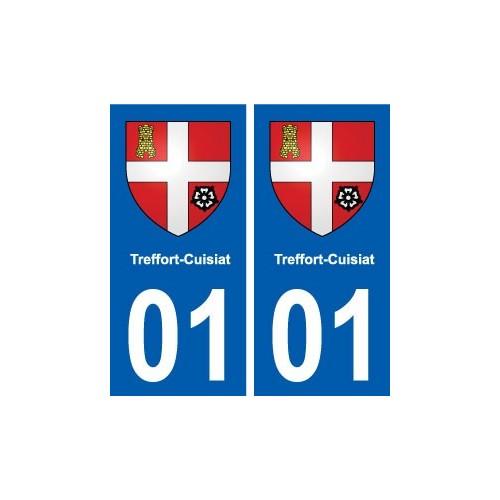 01 Treffort-Cuisiat blason ville autocollant plaque sticker
