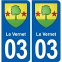 03-Vernet coat of arms, city sticker, plate sticker