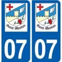 07 Saint-Montan logo ville autocollant plaque stickers