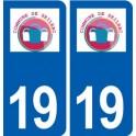 19 Seilhac logo city sticker, plate sticker
