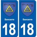 18 Sancerre blason autocollant plaque ville sticker