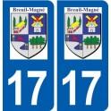 17 Breuil-Magné logo ville autocollant plaque sticker