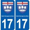 17 Saint-Georges-du-Bois blason ville autocollant plaque sticker