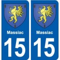 15 Massiac blason ville autocollant plaque sticker