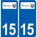 15 Massiac logo ville autocollant plaque sticker