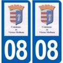 08 Vireux-Molhain logo city sticker, plate sticker