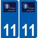 11 Argeliers logo ville autocollant plaque stickers