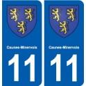 11 Caunes-Minervois blason ville autocollant plaque stickers