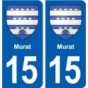 15 Murat blason ville autocollant plaque sticker