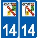 14 Bavent logo ville autocollant plaque sticker